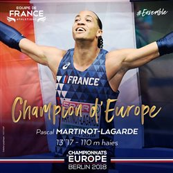 CHAMPION D'EUROPE : PML remporte le 110m haies